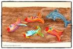 להקת דגים מעיסת נייר