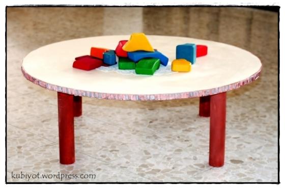 שולחן משחקים מקרטון